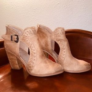 Nara cutout western inspired booties - Taupe